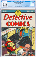 Golden Age (1938-1955):Superhero, Detective Comics #29 (DC, 1939) CGC FN- 5.5 Cream to off-white pages....