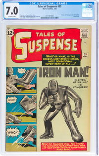 Tales of Suspense #39 (Marvel, 1963) CGC FN/VF 7.0 Off-white pages