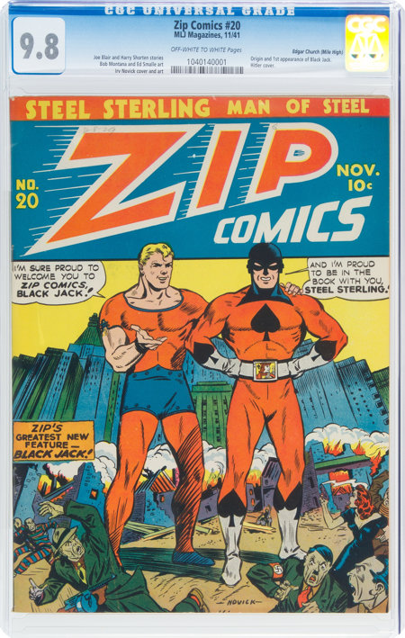 Zip Comics #20 Mile High Pedigree (MLJ, 1941) CGC NM/MT 9.8 Off-white to white pages....