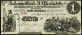 Obsoletes By State:Indiana, Michigan City, IN- Michigan City and South Bend Plank Road Co. at Exchange Bank of H.J. Perrin & Co. $1 April, 1862 Wolka 49...