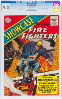 Showcase #1 Firefighters (DC, 1956) CGC VF/NM 9.0 White pages