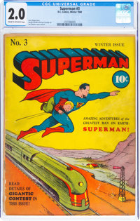 Superman #3 (DC, 1940) CGC GD 2.0 Cream to off-white pages