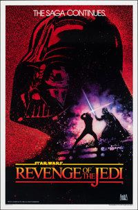 """Revenge of the Jedi (20th Century Fox, 1982). Rolled, Very Fine. One Sheet (27"""" X 41"""") Undated Advance Style..."""
