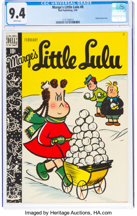 Marge's Little Lulu #8 (Dell, 1949) CGC NM 9.4 White pages....