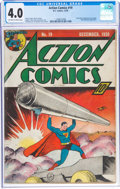 Golden Age (1938-1955):Superhero, Action Comics #19 (DC, 1939) CGC VG 4.0 Off-white to white pages....