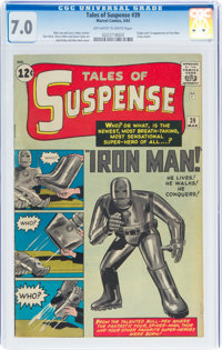 Tales of Suspense #39 (Marvel, 1963) CGC FN/VF 7.0 Off-white to white pages