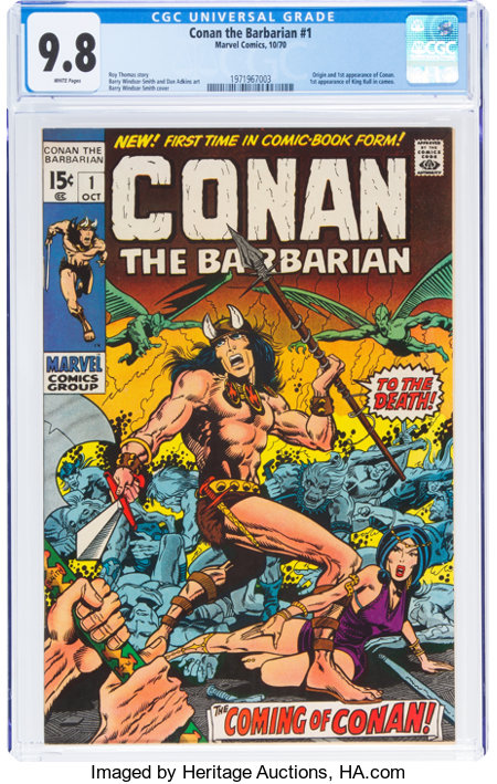 Conan the Barbarian #1 (Marvel, 1970) CGC NM/MT 9.8 White pages....