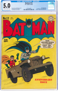 Batman #12 (DC, 1942) CGC VG/FN 5.0 Off-white to white pages