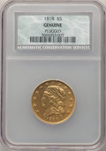 1818 $5 -- Plugged -- NCS. Genuine. Mintage 48,588....(PCGS# 8119)