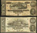 Confederate Notes:1863 Issues, T59 $10 1863 Very Fine;. T68 $10 1864 Fine.. ... (Total: 2 notes)