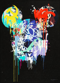 Kenny Random (20th century) Beautiful Lies (BL1), 2012 Offset lithograph print in colors with hand a