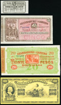 World (Argentina, Bolivia, Costa Rica) Group Lot of 4 Examples About Uncirculated-Crisp Uncirculated. ... (Total: 4 note...