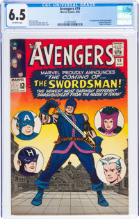 The Avengers #19 (Marvel, 1965) CGC FN+ 6.5 Off-white pages