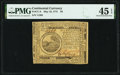 Colonial Notes:Continental Congress Issues, Continental Currency May 10, 1775 $6 PMG Choice Extremely Fine 45 EPQ.. ...