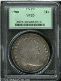Early Dollars: , 1799 $1 8X5 Stars VF20 PCGS. B-23, BB-159, R.3. This is ...