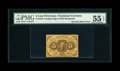 Fractional Currency:First Issue, Fr. 1230 5c First Issue Inverted Back PMG About Uncirculated 55 EPQ....