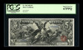 Large Size:Silver Certificates, Fr. 268 $5 1896 Silver Certificate PCGS Superb Gem New 67PPQ....