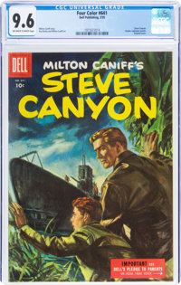Four Color #641 Steve Canyon (Dell, 1955) CGC NM+ 9.6 Off-white to white pages