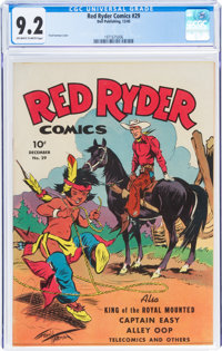 Red Ryder Comics #29 (Dell, 1945) CGC NM- 9.2 Off-white to white pages