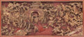 Furniture, A Chinese Carved Panel Depicting a Battle Scene, late 19th century . 34 x 66 x 5 inches (86.4 x 167.6 x 12.7 cm). ...