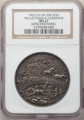 So-Called Dollars, 1902 Medal Wells Fargo & Co. Semicentennial, Silver, HK-296, R.5, MS63 NGC. A scarce so-called dollar, particularly elusive...