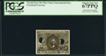 Fractional Currency:Second Issue, Milton 2E10F.4 10¢ Second Issue Experimental PCGS Superb Gem New 67PPQ.. ...