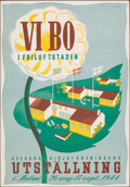 """Movie Posters:Foreign, We Live in the Outdoor City (Svenska Slöjdföreningens, 1944). Rolled, Very Fine. Swedish Poster (27.5"""" X 39.5"""") Anders Beckm..."""
