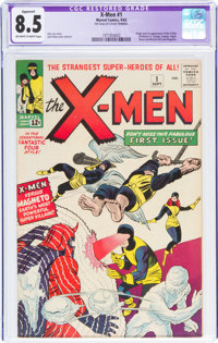 X-Men #1 Trimmed (Marvel, 1963) CGC Apparent VF+ 8.5 Off-white to white pages