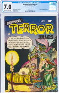 Golden Age (1938-1955):Horror, Beware Terror Tales #2 (Fawcett Publications, 1952) CGC FN/VF 7.0 Off-white to white pages....