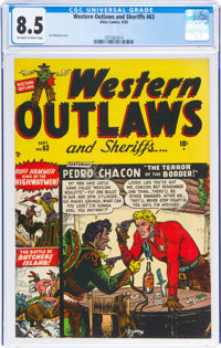 Western Outlaws and Sheriffs #63 (Marvel, 1950) CGC VF+ 8.5 Off-white to white pages