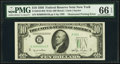 Obstructed Printing Error Fr. 2010-B $10 1950 Wide Federal Reserve Note. PMG Gem Uncirculated 66 EPQ