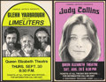 Movie Posters:Rock and Roll, Glenn Yarbrough and the Limeliters at Queen Elizabeth Theater & Other Lot (Famous Artists, 1976). Very Fine-. Window Cards (... (Total: 4 Items)