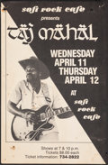 """Movie Posters:Rock and Roll, Taj Mahal at the Soft Rock Cafe & Other Lot (1960s). Folded & Rolled, Overall: Fine/Very Fine. Concert Posters (3) (11"""" X 16... (Total: 3 Items)"""