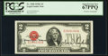 Small Size:Legal Tender Notes, Georgia Neese Clark and John W. Snyder Dual Courtesy Autographed Fr. 1508 $2 1928G Legal Tender Note. PCGS Superb Gem New 67PP...