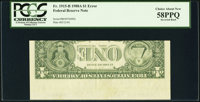 Inverted Back Error Fr. 1915-B $1 1988A Federal Reserve Note. PCGS Choice About New 58PPQ