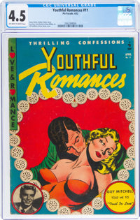 Youthful Romances #11 (Pix Parade, 1952) CGC VG+ 4.5 Off-white to white pages