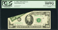 Error Notes:Foldovers, Foldover Error Fr. 2068-J $20 1969A Federal Reserve Note. PCGS Choice About New 58PPQ.. ...