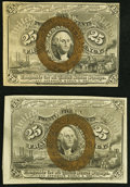 Fractional Currency:Second Issue, Fr. 1284 25¢ Second Issue Choice About New;. Fr. 1285 25¢ Second Issue Choice About New.. ... (Total: 2 notes)
