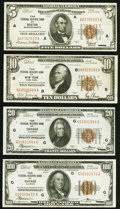 1929 Federal Reserve Bank Notes. Fr. 1850-A $5 VF; Fr. 1860-B $10 XF, staining along the top edge