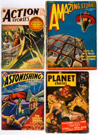 Science Fiction Pulps Box Lot (Various Publishers, 1927-55). Condition: Average VG