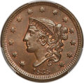 1838 1C N-1, R.1, MS66 Brown PCGS. CAC....(PCGS# 37180)