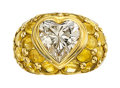 Estate Jewelry:Rings, Diamond, Yellow Sapphire, Gold Ring, French . ...