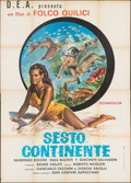 """Movie Posters:Foreign, The Sixth Continent (D.E.A., 1954). Folded, Fine/Very Fine. Italian 4 - Fogli (55"""" X 77""""). Foreign.. ..."""