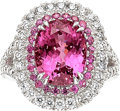 Estate Jewelry:Rings, Spinel, Diamond, Pink Sapphire, White Gold Ring. ...