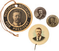 Political:Pinback Buttons (1896-present), Theodore Roosevelt: Group Of Buttons And Cardboard Badge....