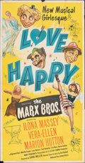 """Movie Posters:Comedy, Love Happy (United Artists, 1949). Folded, Fine/Very Fine. Three Sheet (41"""" X 79). Comedy.. ..."""