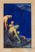 Original Comic Art:Illustrations, C. C. Beck Unpublished Weird Tales Illustration Original Art (ca. 1920s)....
