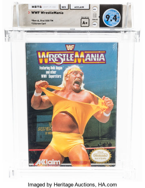 Wwf Wrestlemania Wata 9 4 A Sealed Oval Soq Tm Later Lot 13798 Heritage Auctions