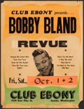 "Movie Posters:Musical, Bobby Bland at Club Ebony (1971). Fine-. Concert Window Card (17"" X 22""). Rock and Roll.. ..."