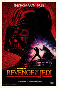"Revenge of the Jedi (20th Century Fox, 1982). Rolled, Near Mint/Mint. One Sheet (27"" X 41"") Dated Advance Styl..."